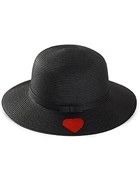 LVLIDAN Sombrero para el sol del verano Dama SolAnti-Sol Playa pescador sombrero de paja negro