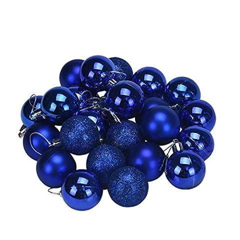 Xmas Ball, Noël 4 Arbre Boule Décoration cm 24PC Noël