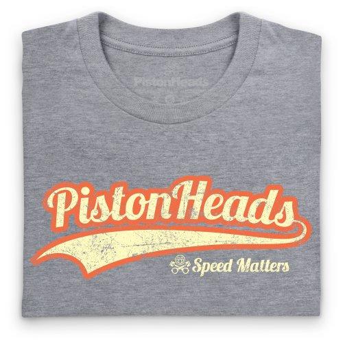 PistonHeads Retro T-Shirt, Damen Grau Meliert
