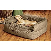 Orvis Comfortfill Couch Dog Bed / Medium Dogs Up To 40-60 Lbs., Brown Tweed