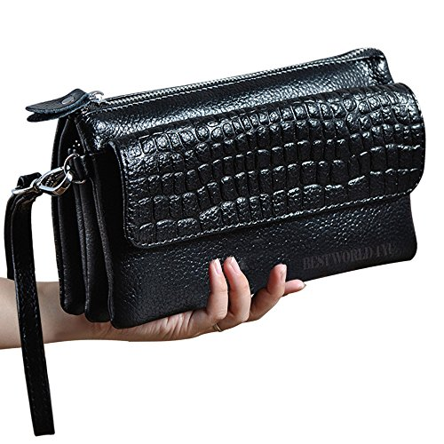 wocharm-soft-leather-wristlet-phone-wallet-clutch-womens-creativity-coin-purses-and-pouches-black