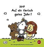 Sheepworld Postkartenkalender - Auf ein tierisch gutes Jahr - Kalender 2017 - Heye-Verlag - mit 12 heraustrennbaren Postkarte