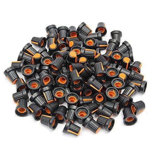 Preisvergleich Produktbild Tutoy 100Pcs Regler Für 6 mm Dia Rändelschraube Welle