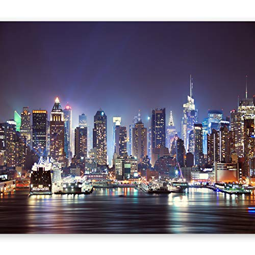 murando - Fototapete New York 350x256 cm - Vlies Tapete - Moderne Wanddeko - Design Tapete - Wandtapete - Wand Dekoration - Stadt City New York d-B-0034-a-b