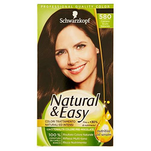 Haarfärbemittel permanente Natural & Easy N 580 natürliche Dunkelbraun -