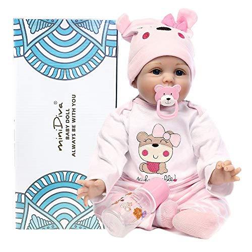 Muñecas de bebé de 56 cm, calidad realista, hechas a mano bebé,...