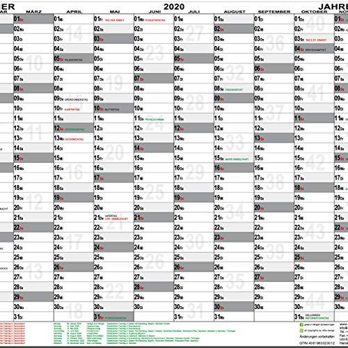 Calendario Festivi 2020.Agenda Da Parete 2020 Din A1 Piegato Calendario Da Parete