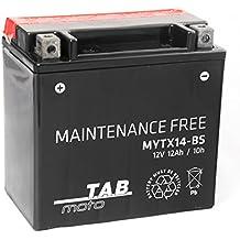 TAB YTX14-BS Batería de moto 12V 12Ah 200A Sellada, sin mantenimiento
