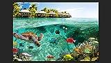 Vlies Fototapete 200×140 cm ! Top – Tapete – Wandbilder XXL – Wandbild – Bild – Fototapeten – Tapeten – Wandtapete – Wand – Natur Landschaft Meer Fish Himmel tropischen Insel Sommer c-A-0027-a-a - 4