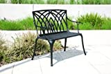 Alium Kennedy Cast Aluminium Garden Bench in Black