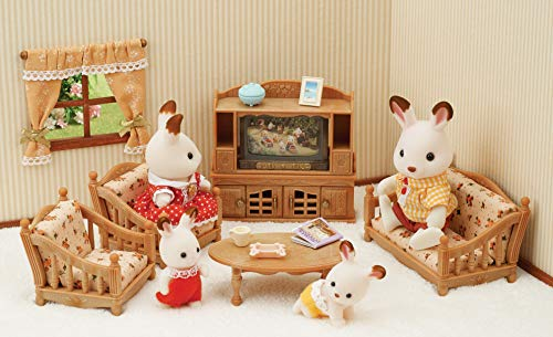 Sylvanian Families 5339 La pièce à Vivre Living Room Set, Mehrfarbig