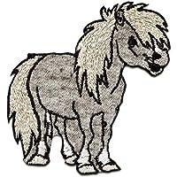 Patches Aufbügeln Pferd Galopp Tier Aufnäher // Bügelbild braun 4,6x5cm