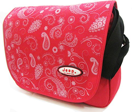Jeep  Messenger bag, Borsa Messenger  Donna Bambini rosso Red Red