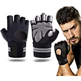SR SUREADY Gym Gloves, Weightlifting Workout with Soft Padding & Wrist Wrap Support for Good Suitable for Men and Women…