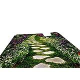 Vitila Bodenaufkleber Wohnkultur Wohnzimmer Wandaufkleber Schlafzimmer Badezimmer Wandbilder Kreative Persönlichkeit 3D Aufkleber Rasen Wanderwege Selbstklebende Plakate Pvc Abnehmbare Tapete
