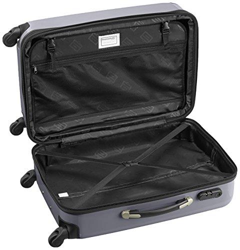 HAUPTSTADTKOFFER - Alex - 2er Koffer-Set Hartschale glänzend, 65 cm + 55 cm, 74 Liter + 42 Liter, Graphit-Blau Magenta-Silber