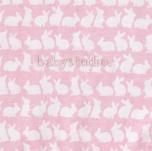 Baby Studio Swaddle - Ganzkörper-Pucksack ist ideal bei Schreibabys. Baumwolle, verschiedene Farben, Neugeborenes (Rosa Häschen)