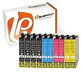 Bubprint 10 Druckerpatronen kompatibel für Epson T1811-T1814 18XL für Expression Home XP-100 XP-102 XP-200 XP-205 XP-225 XP-302 XP-305 XP-402 XP-405