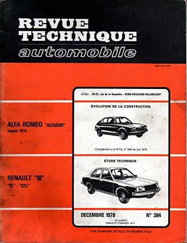 REVUE TECHNIQUE AUTOMOBILE N° 384 RENAULT 18 TL ET GTL par E.T.A.I.