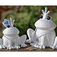 Spardose, Gelddose Froschkönig aus Stein in weiß, 1 Stück, ca. 16 cm x 9 cm 14 cm preisvergleich bei kinderzimmerdekopreise.eu