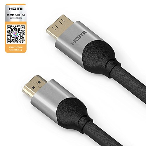 OMARS® Premium Certified 1.5m HDMI Cable Ultra Speed High Support 21 Gbps 4k@60Hz (HDMI V2.0b) (5 feet, Grey)