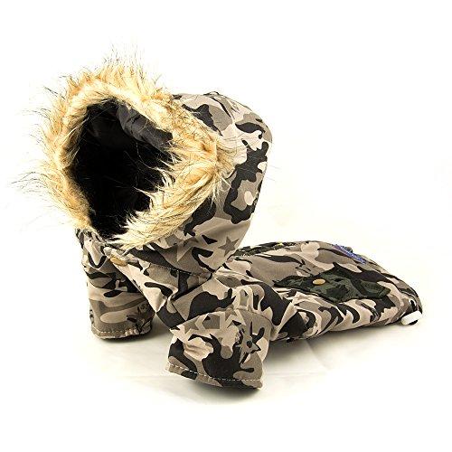 Hundejacke, Hundeweste, Winterjacke mit Kapuze im Militärlook Größe: L