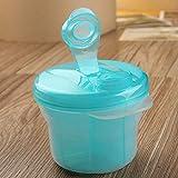Hrph Tragbare Baby-Milch-Box Feeding Pulverspender Container Drei Lattice Compartment Säuglingsnahrungsmittelspeicher