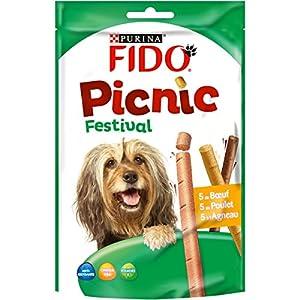 Fido Picnic Festival Friandises pour Chien Bœuf, Poulet & Agneau 126 g 15 Bâtonnets