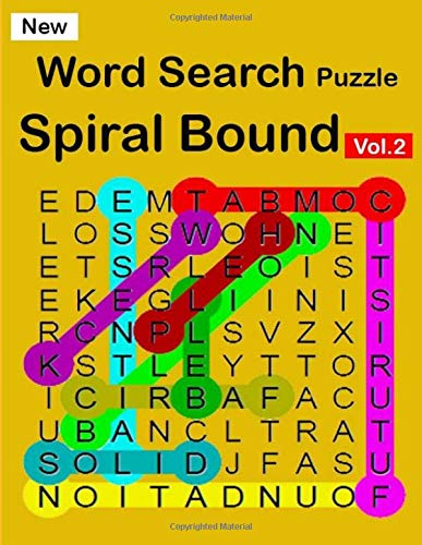 New Word Search Puzzle Spiral Bound Vol.2: Hours of brain-boosting entertainment for adults and kids