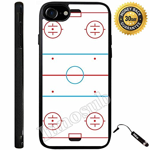 Ice Hockey Rink Basic Handy Tragetasche Cases-Cover-Skin-Rubber-Plastic Case-innosub-iPhone 7-1st-1801, Rubber Soft-Black Case Cover Von Black Ice