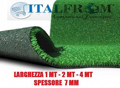 Prato Sintetico 7 mm h 4 x 8 mt - Finta Erba Tappeto Giardino Calpestabile