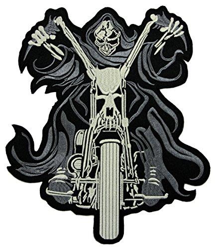 Ghostrider Backpatch Rückenaufnäher Biker Weste 21,5 x 25,5 cm