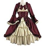 Writtian Halloween Damen Mittelalterliche Kleid mit Trompetenärmel Mittelalter Party Kostüm...