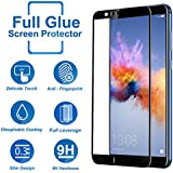 [Sponsored]CareFone Honor 7X Tempered Glass Screen Protector / Honor 7X Edge To Edge Fit 9H Hardness Bubble Free Anti-Scratch Crystal Clarity 5D Curved Screen Guard For Honor 7X - (Black)