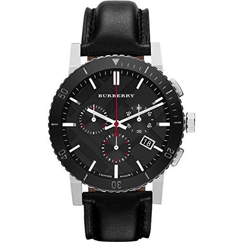 BURBERRY BU9382 Montre bracelet Homme, Cuir, couleur: noir