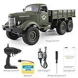 JullyeleDEgant JJRC Q60 2,4G RC 1:16 Maschine Fernbedienung 6 Radantrieb Tracked Off-Road Military RC LKW Elektrische Spielzeug für Kinder
