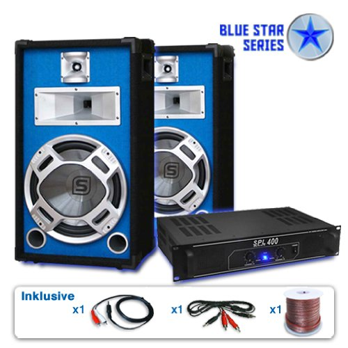 PA Set Blue Star Series Starter 1200 Watt Anlage - 25 Blue-serie Subwoofer-kabel