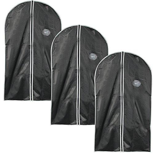 COM-FOUR 3er Set Kleidersack Kleiderschutzhülle mit Reißverschluss, ca. 100 x 60 cm