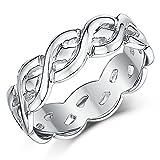 Keltischer Ring 9 Karat (375) Weißgold 6 mm keltischer Knoten-Ring Twist
