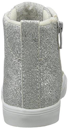 Hummel Mädchen Strada Glitter Jr High-Top Silber (Silver)