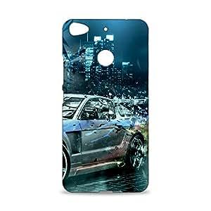 ezyPRNT Metallic Car Beautiful Premium PC Plastic Mobile Back Case Cover for Letv 1S