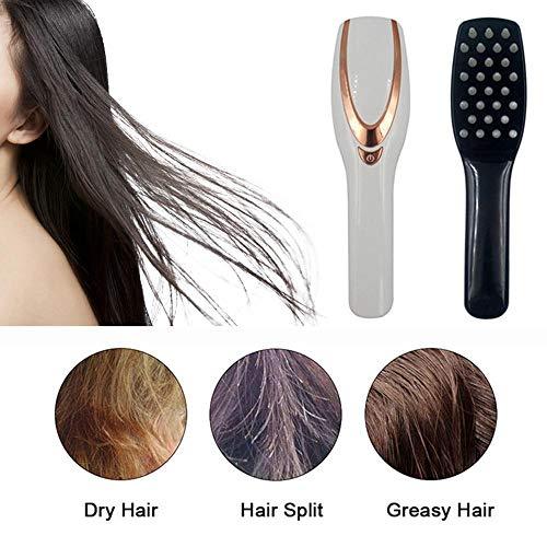 Womdee Haarwachstum Kamm, 3-IN-1 Haar Kopfhaut Massagegerät Kamm, Anti Haarausfall Kopfpflege Elektrische Massage Kamm Pinsel mit USB Wiederaufladbare, Geschenk für Frauen/Männer/Freunde -