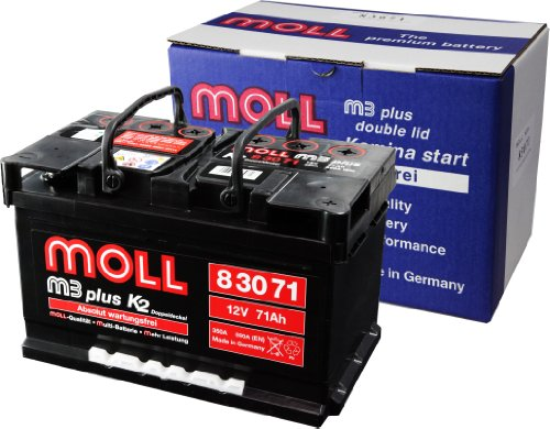 Moll M3 Plus K2 Doppeldeckel 83071 71Ah (590A Kälteprüfstrom)