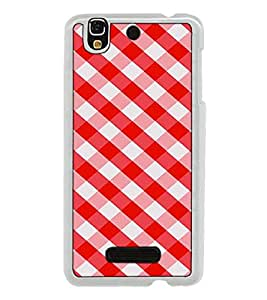 Fuson Designer Back Case Cover for YU Yureka :: YU Yureka AO5510 (strips squre artistic cross lines cheks wallpaper)