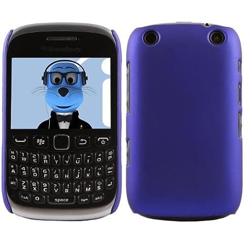 iTALKonline BlackBerry 9315 Curve BLU Difficile Saluto dura della cassa della pelle Soft Grip Slim