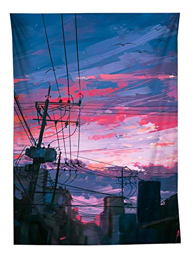 YISUMEI Tapisserie Wandbehang,Anime Stil Draht Wandteppich Wohnzimmer Schlafzimmer Wand Decor Couch Bezug Strandtuch Picknick Tuch,150x200cm (Tuch Draht)