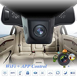 camaras ocultas para autos: Cámara oculta DVR para coche de Lonshell, Full HD 1080p, grabadora de vídeo, áng...