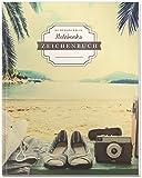DÉKOKIND Zeichenbuch   DIN A4, 122 Seiten, Register, Vintage Softcover   Dickes Blanko-Notizbuch zum Selbstgestalten  