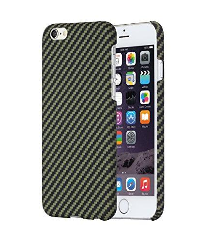 iPhone 6 / iPhone 6s Coque avec protections d'écran, (Rouge / Noir) Ultra Mince iPhone 6/6s case 4.7 pouces PITAKA Aramid Jaune / Noir
