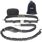 Premium Jogging-Leine | Sichere Metall-Komponenten | Umweltfreundliche Verpackung | Softer Neopren-Bauchgurt | 2 Gratis Booklets | Pets'nDogs - 2